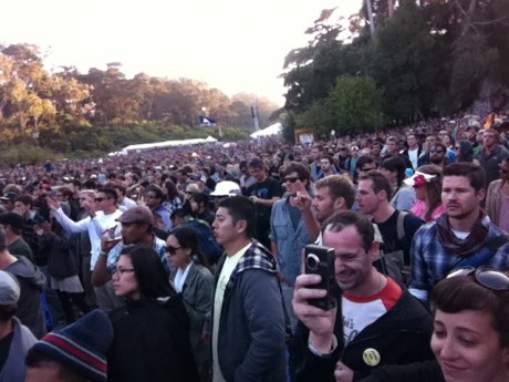 The crowd at Roots @ Outside Lands 2011