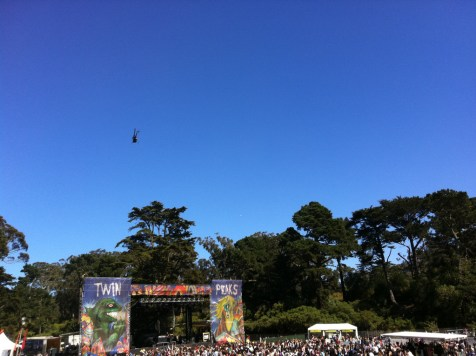 Helicopters, look out below! Outside Lands 2011