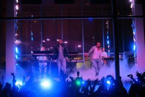 Kanye West & Jay-Z @ MoMA Garden Party, NYC 5/10/11 | Photo © Stephen Kelley