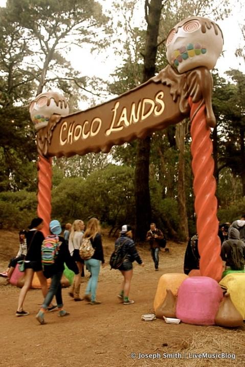 Choco Lands Sign @ Outside Lands 2012 || Photo © Joseph Smith