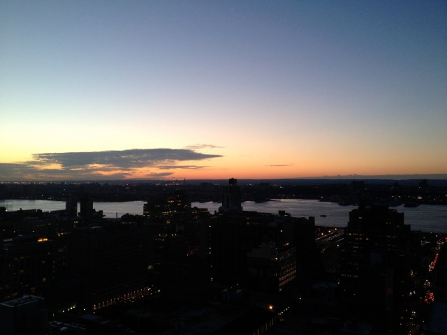 View of the Hudson at Sunset
