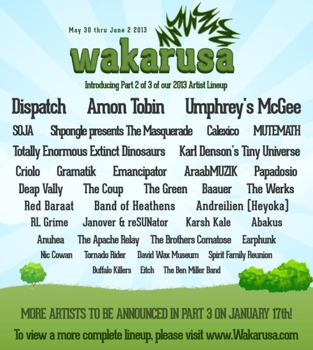 wakarusa phase 2 lineup
