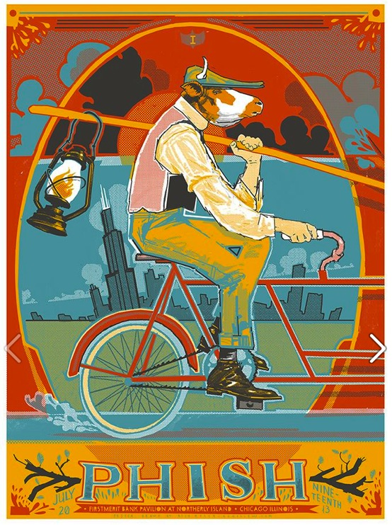 phish northerly island night one poster