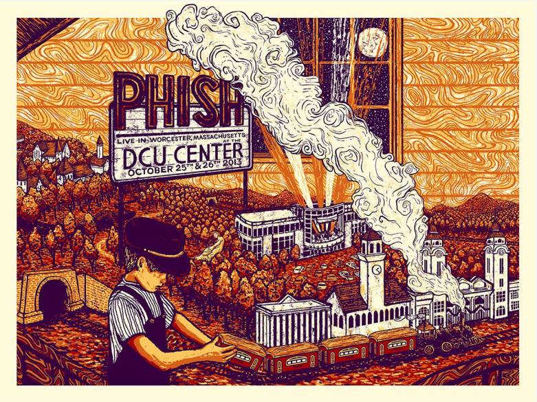 phish dcu center poster