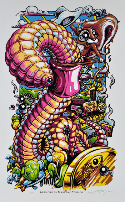 """""""Back of the Worm"""", Dicks 2014 Print by AJ Masthay"""