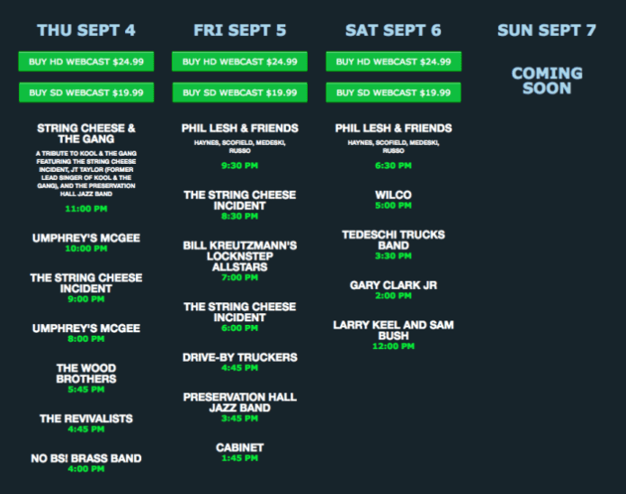 LOCKN' Festival Webcast This Weekend on nugs.tv