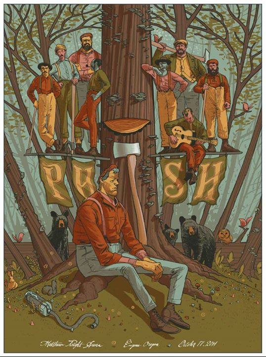 Phish Eugene 2014 Poster © Rich Kelly