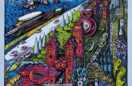 Phish Seattle 2014 poster by David Welker