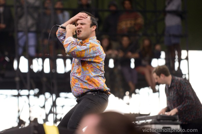 Future Islands perform on the Sasquatch Stage on May 25th, 2015.