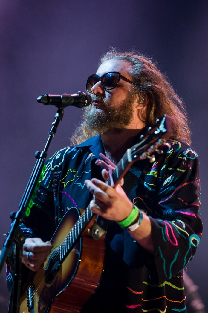 My Morning Jacket playing Peabody Opera House in St. Louis on August 12, 2015.
