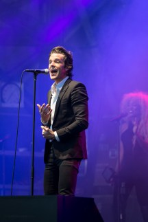 Brandon Flowers performing at LouFest in St. Louis on Saturday September 12, 2015.