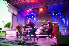 COIN performing at LouFest in St. Louis on Saturday September 12, 2015.