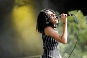 Jessica Hernandez & The Deltas performing at LouFest in St. Louis on Saturday September 12, 2015.