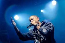Ludacris performing at LouFest in St. Louis on Saturday September 12, 2015.