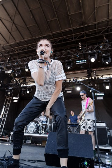 Misterwives performing at LouFest in St. Louis on Sunday September 13, 2015.