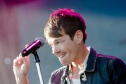 Nate Ruess performing at LouFest in St. Louis on September 12, 2015.
