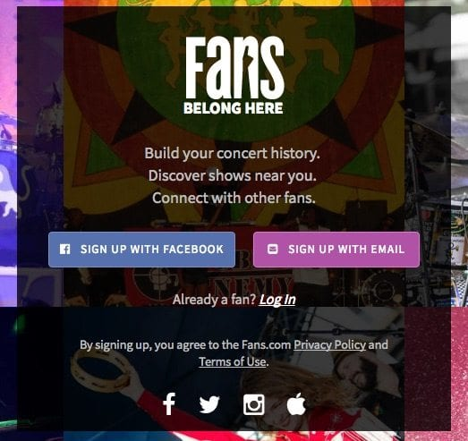 fans intro page