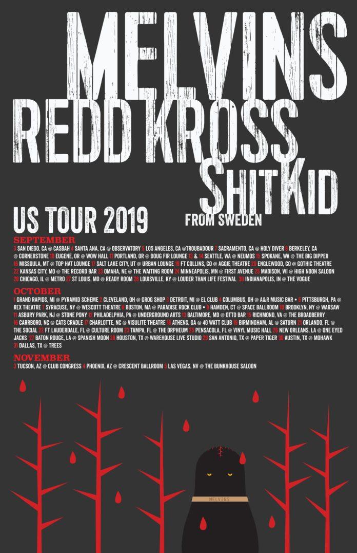 ⋆ The Melvins Announce Big Set of 2019 Tour Dates (w/ Redd