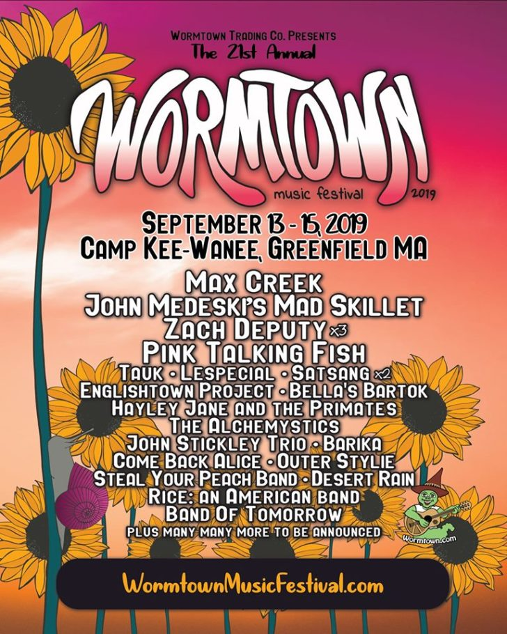wormtown 2019 lineup poster live music blog