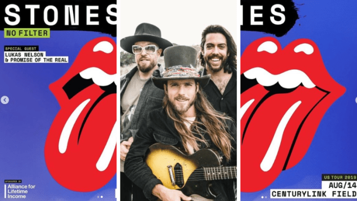 lukas nelson promise rolling stones opening slots
