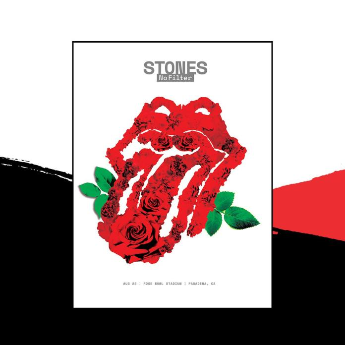 rolling stones pasadena rose bowl poster
