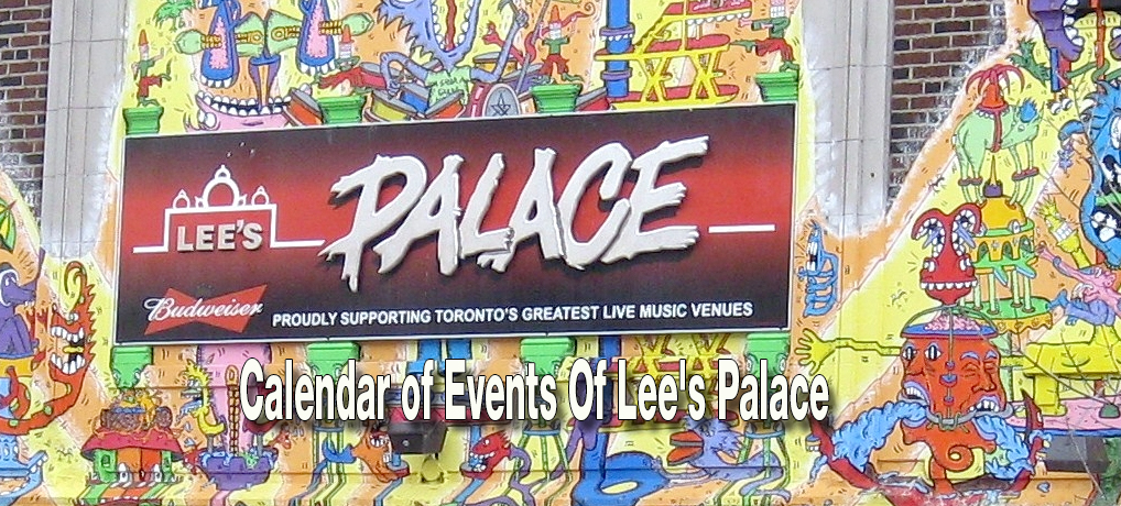 Calendar of Events Of Lee's Palace