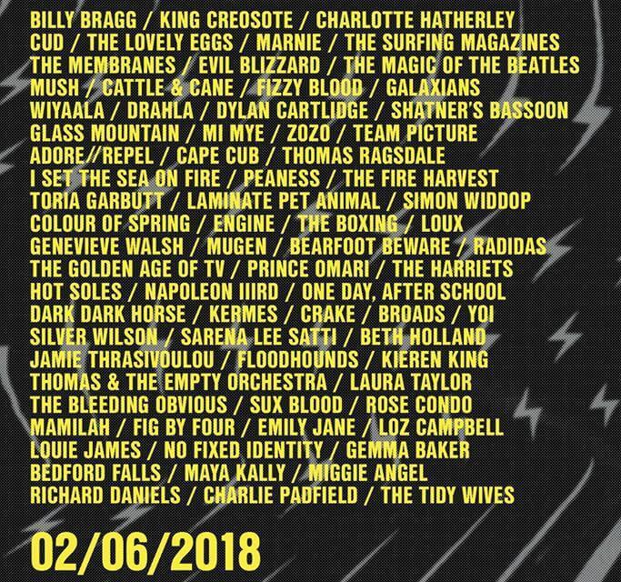 Long Division 2018 (Membranes, Cud, Lovely Eggs, Evil Blizzard, Billy Bragg, Charlotte Hatherley, Fizzy Blood, Marnie) – Preview