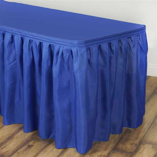 Royal Blue Table Skirt Polyester 17 Live N Lavish Events