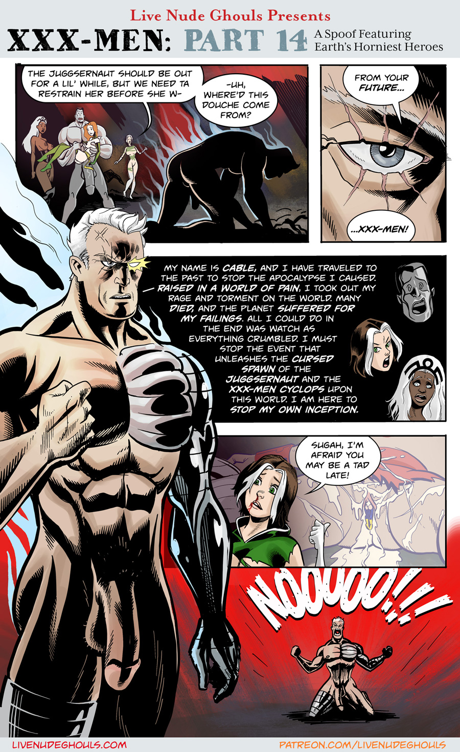 XXX-Men page 14 - Cable travels back in time to stop the apocalypse!