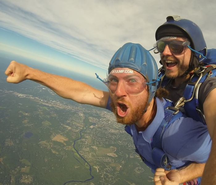 Skydiving in Massachusetts