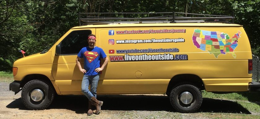 Seth Stivala and the finished Beardmobile