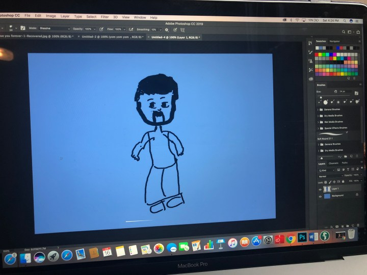 Me and Photoshop. That is supposed to be the dad.