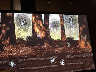 The type of spider determines where it goes on the screen