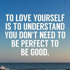You don't need to be perfect.