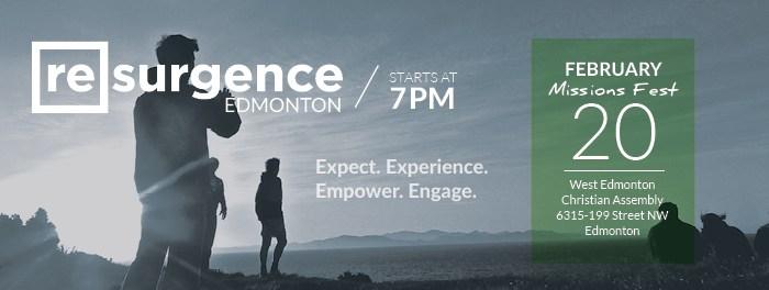 Resurgence at MissionsFest Alberta Feb 20 2016