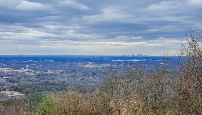 Atlanta, Marietta and Stone Mountain from the summit