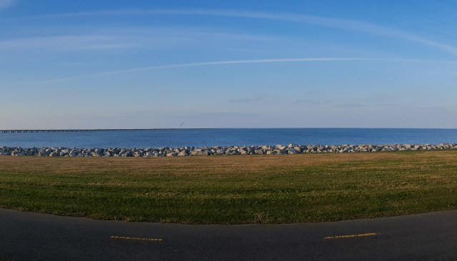 Lake Pontchartrain, the second largest saltwater lake in the US.