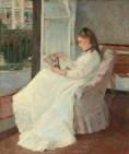 Berthe Morisot Sorella dell'artista alla finestra 1869