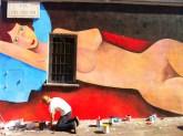 """Jim Avignon """"Street Art"""" via dei Pisoni luglio 2012"""