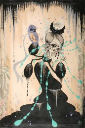 Camille-Rose-Garcia-the-animals-talk-at-midnight_41x61_acrylic-and-glitter-on-paper-mounted-on-board2