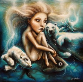 Valentina-Brostean_Under-The-Ocean-of-Dreams_40x40-cm_acrylic-and-water-color-on-canvas-with-medium-glossy-protective-varnish1