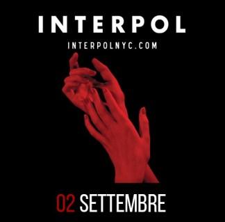 Interpol a Roma il 2 settembre 2015 al Rock in Roma all'Ippodromo delle Capannelle