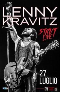 Lenny Kravitz a Roma il 27 luglio 2015 all'Ippodromo delle Capannelle con Strut Live 2015