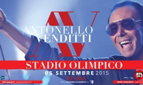 Antonello Venditti il 5 settembre 2015 in concerto allo Stadio Olimpico a Roma