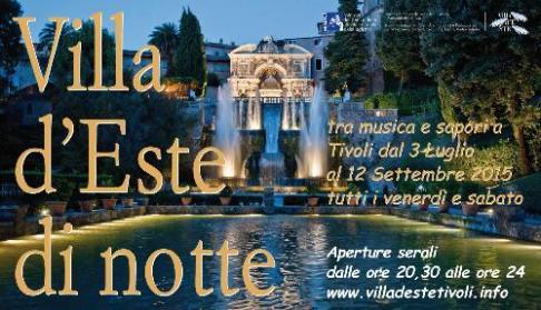 Villa d'Este di notte 2015: dal 3 luglio al 12 settembre aperture straordinarie serali con concerti ed eventi