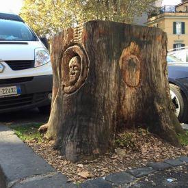 I tronchi scolpiti di Andrea Gandini
