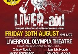 Liver-Aid  concert, Francesa Bimpson Foundation, Olympia Theatre, 30 Aug 2013