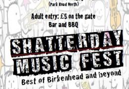Shatterday Music Festival for Terral Morgan Memorial Fund, 24 Aug, Birkenhead Park Rugby Club