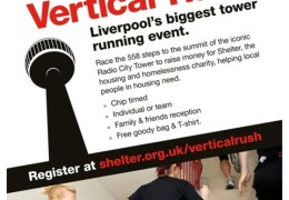 Run to the top of the tower for charity with Shelter's Vertical Rush