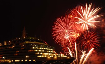 Fireworks for the Queen Victoria